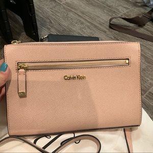 Calvin Klein Rose Gold Crossbody Bag